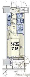 スワンズシティ梅田シエロ 6階1Kの間取り