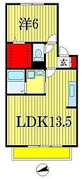千葉県船橋市前原西1丁目の賃貸アパートの間取り