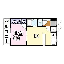 D-スクウェア加古川[3階]の間取り