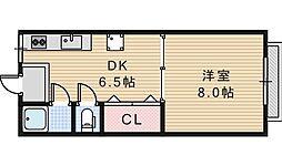 グロー東加賀屋[312号室]の間取り