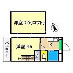 ハウス2000KUWANA[4階]の間取り