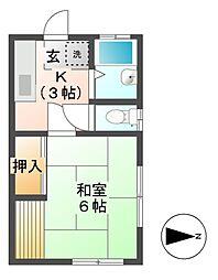 児玉コーポ[1階]の間取り