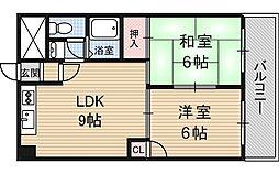 上新庄グランドハイツ北[3階]の間取り
