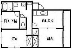 矢野ビル[2階]の間取り