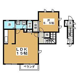 カーサセナ[2階]の間取り
