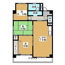 エミナンス松岡[3階]の間取り