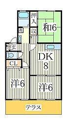 アンクレージュ[1階]の間取り