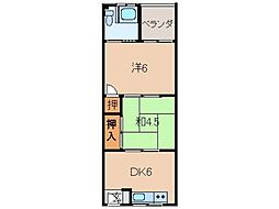 和歌山県和歌山市松江東4丁目の賃貸アパートの間取り