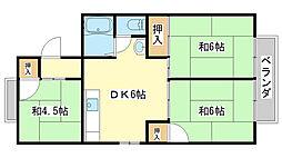 パレーシャル田寺[A105号室]の間取り