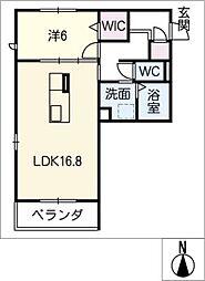 仮)颯季館[1階]の間取り