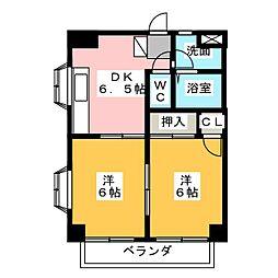 アーバンライフ掛川南[3階]の間取り