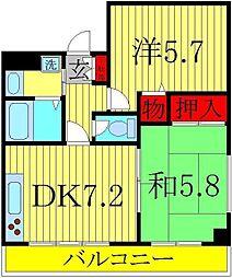 メゾン松丸[3階]の間取り
