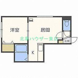 北海道札幌市東区北十七条東10の賃貸アパートの間取り