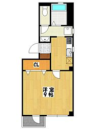 レグルス本八幡[2階]の間取り