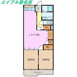 第3富士コーポ[3階]の間取り
