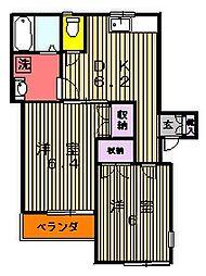 フェリースグランメール[102号室]の間取り