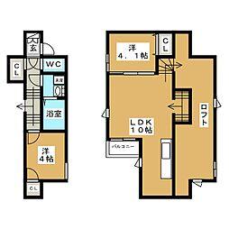 CB箱崎ミリオ 2014年築[2階]の間取り