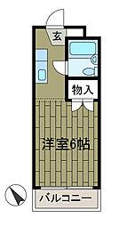 サンビレッヂ町田[3階]の間取り