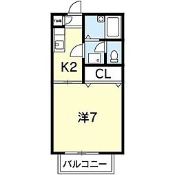 フレグランス望[1階]の間取り