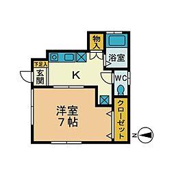 ハイツFX[1階]の間取り
