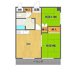 ドルチェK&Y[305号室]の間取り