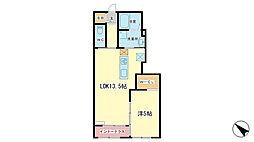 仮)田寺新築アパート[1階]の間取り