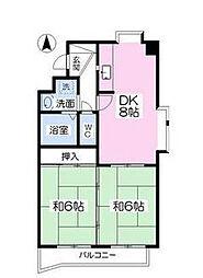 リビヨン藤嶋[2階]の間取り