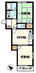 モンハウス[203号室]の間取り