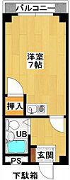 第2古川マンション[302号室]の間取り
