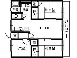 大阪府和泉市黒鳥町3丁目の賃貸アパートの間取り