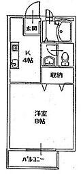 福岡県北九州市門司区長谷1丁目の賃貸アパートの間取り