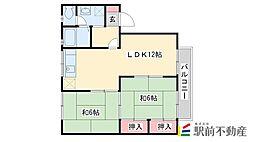 セジュール・プルニエA棟[105号室]の間取り