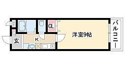 愛知県名古屋市天白区植田南3丁目の賃貸アパートの間取り