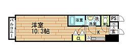 エスリード福島 第5[4階]の間取り
