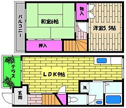 [テラスハウス] 兵庫県神戸市東灘区深江北町2丁目 の賃貸【/】の間取り