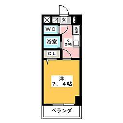Century Nagono[6階]の間取り