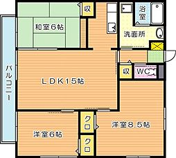 エクセルハイム B棟[2階]の間取り