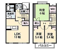[タウンハウス] 広島県広島市西区己斐上2丁目 の賃貸【/】の間取り