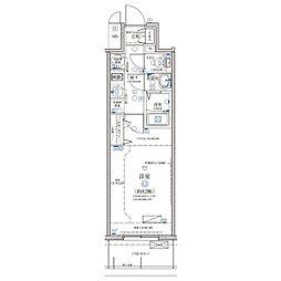 名古屋市営鶴舞線 浅間町駅 徒歩6分の賃貸マンション 6階1Kの間取り