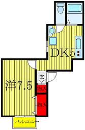 JR京浜東北・根岸線 赤羽駅 徒歩16分の賃貸アパート 1階1DKの間取り