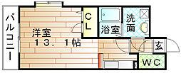 福岡県宗像市石丸1丁目の賃貸マンションの間取り