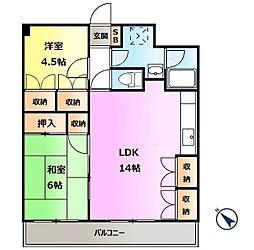 高崎ニートハイツ[4階]の間取り