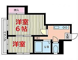 神奈川県横浜市鶴見区汐入町1丁目の賃貸マンションの間取り