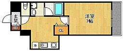 フロ−レンス西宮Ⅲ[2階]の間取り