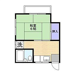 コーポヒデ[201号室]の間取り