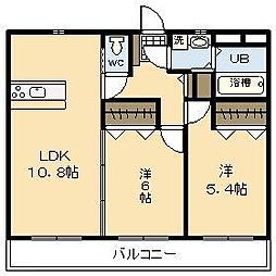 (新築)吉村町中無田マンション[2階]の間取り