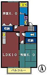 ヴィラージュコート壱・弐番館[2-103号室]の間取り