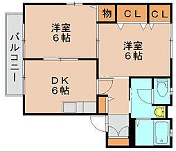 クレール東平尾[1階]の間取り