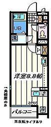 東京都江戸川区篠崎町3丁目の賃貸アパートの間取り