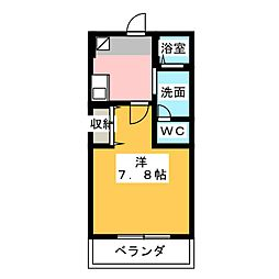 クレフラスト野並A棟[1階]の間取り